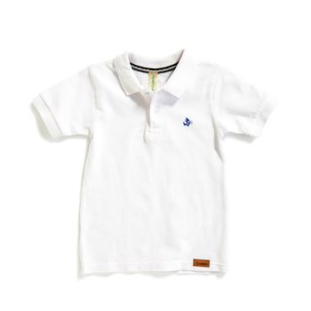 Camiseta-tipo-polo-Alan-color-blanco-marca-Codelin-para-bebe-niño