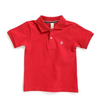 Camiseta-tipo-polo-Alan-color-rojo-marca-Codelin-para-bebe-niño