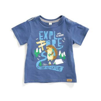 Camiseta-color-azul-petroleo-con-estampado-de-animales-marca-Codelin-para-bebe-niño