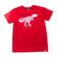 Camiseta-color-rojo-con-texto-estampado-marca-Codelin-para-niño